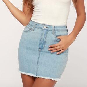 Dresses & Skirts - Lulu's Denim Mini Skirt